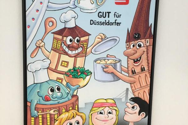 Soroptimist International Düsseldorf-Oberkassel bei einer Spendenübergabe an die Düsseldorfer Kindertafel